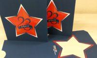 Верстка и печать открытки 23 февраля лак тач