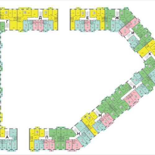 Отрисовка плана жилого комплекса
