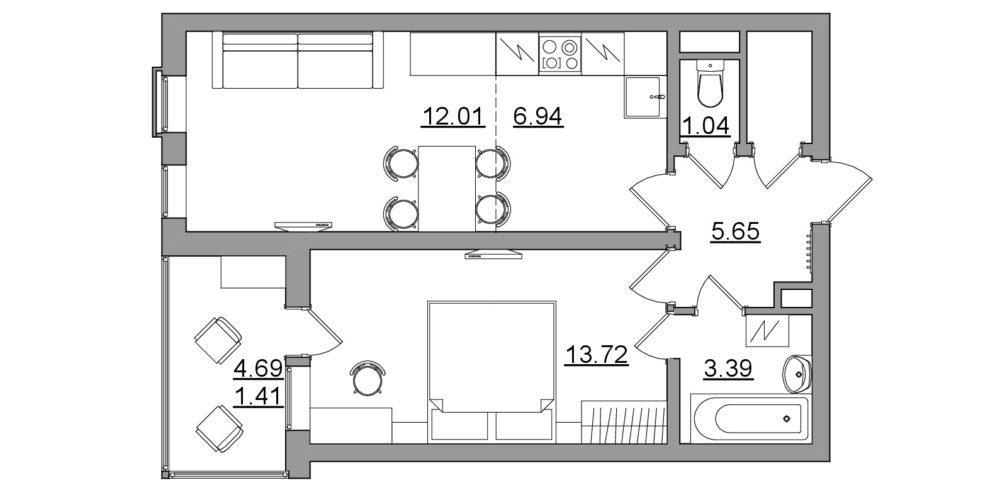 Оцифровка квартиры в векторе