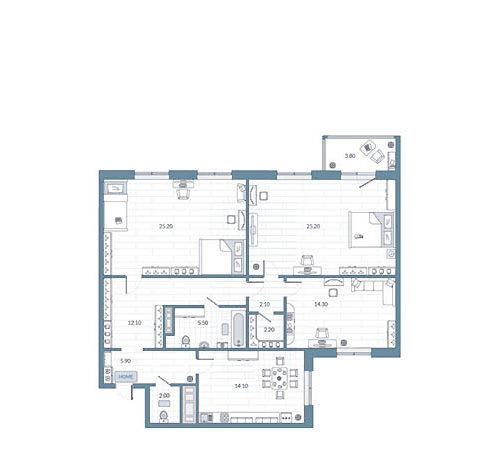 Оцифровка плана квартир для застройщика