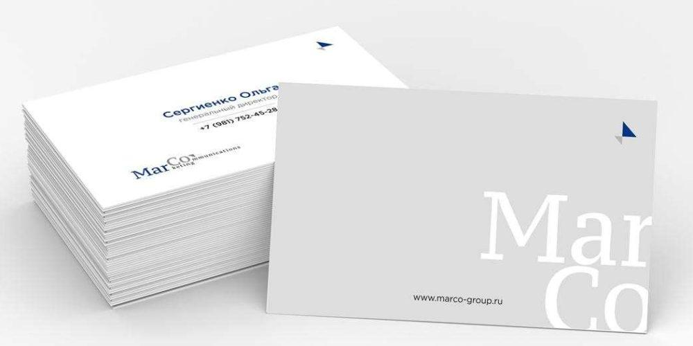 Дизайн и верстка визиток с логотипом