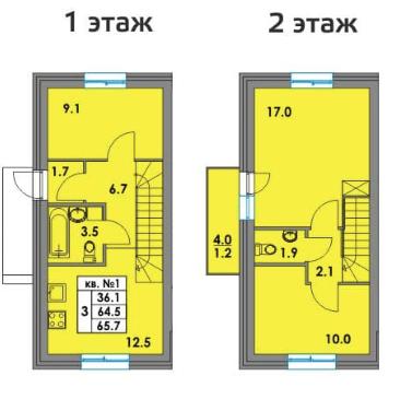 Поэтажный план квартиры