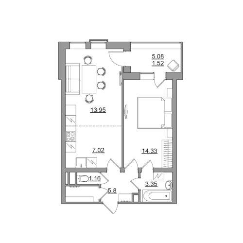 Оцифровка квартиры в ЖК